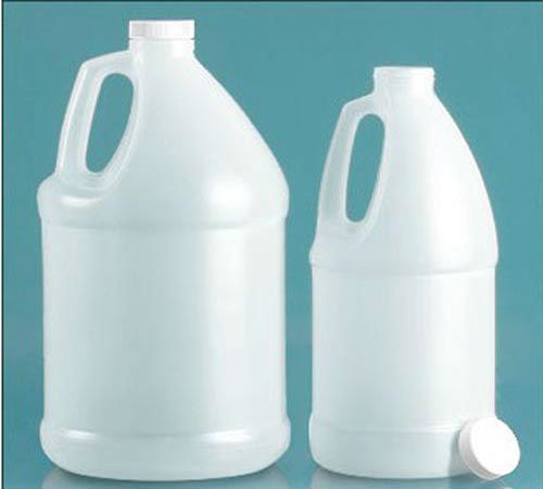1 gallon white plastic bottle