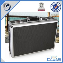2015 New Hot Sale professional tattoo box EVA mold Aluminum storage case Tool Box