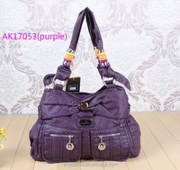 2014 angel kiss ladies washed pu handbag with small wholesale
