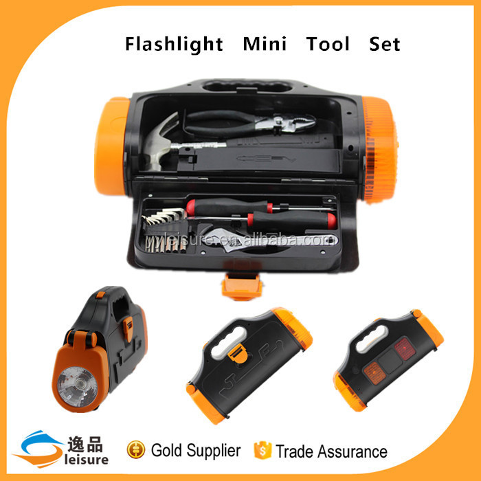 China Professional Cheap 14pcs Emergency Tool Kit With Flashlight