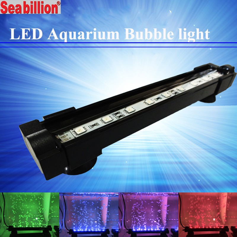 High-quality arowana led light aquarium light colorful submersible bubble light for fish tank