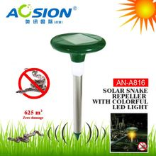 Aosion patent designed IP44 waterproof solar power snake away snake repellent with night light
