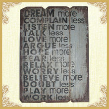 Wholesale new vintage words wall plaques design