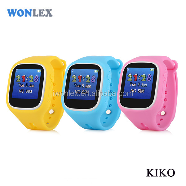 2017 new KIKO child gps golf watch with Touch +GPS+WIFI locater