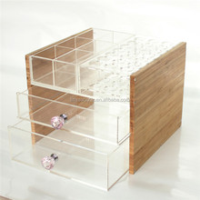 Pretty Transparent Acrylic Cosmetic Storage Lipstick Holder Display,Custom Amazon Top Selling Acrylic Makeup Storage Containers