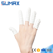 Antistatic Rubber Powder Free Industrial Grade White Latex Finger Cots