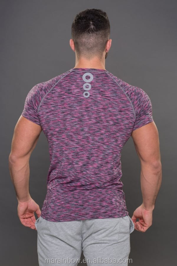 High Quality Heather Grey Mens Muscle Bodybuilding Gym T Shirt Dry Fit Sports T Shirts Unbranded Fitness Clothing