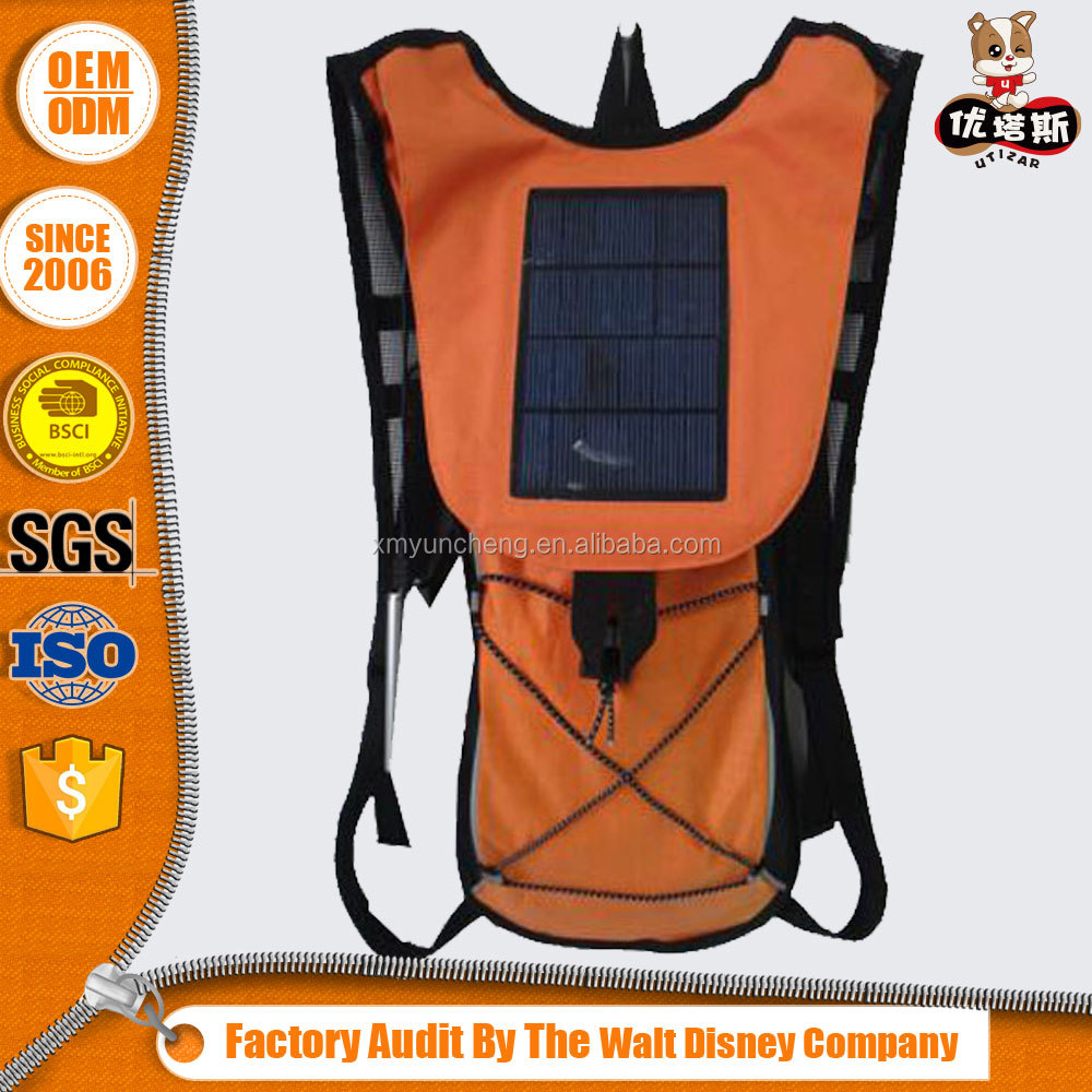 Best Waterproof solar backpack for camping with 2L water bladder