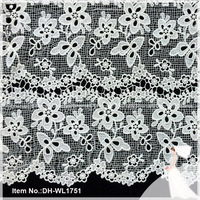 New style water-soluble cotton crochet guipure lace fabric DH-WL1751