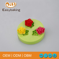 Food Grade Silicone For Gypsum Mold Cake Decorating Mini Rose Shape