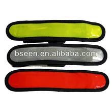 PVC sport reflective welcro wrist bands