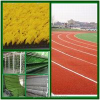 Colorful artificial plastic grass carpet mat for athletic running track