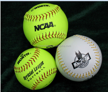 "12"" optic yellow leather official ASA softball wholesales"