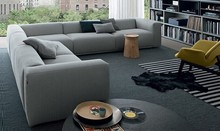 Modern living room fabric sofa sectional design