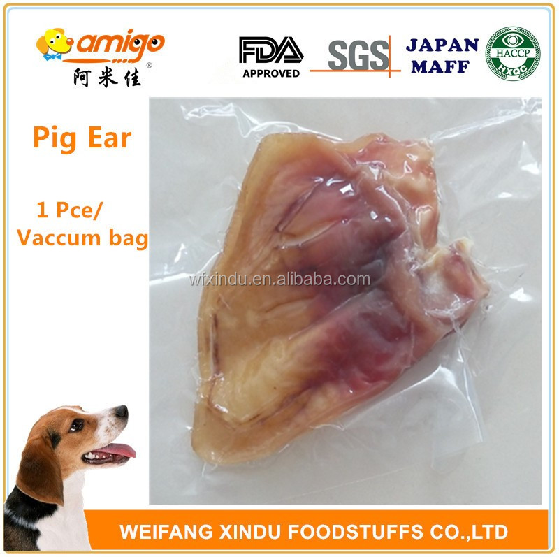 No Addition Natural Pig Ear Packed in Vacuum Bag best for dog or pet