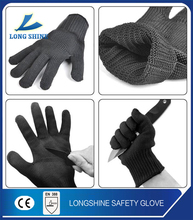 High Quality U3 style Kevlar Cut Resistant Level 5 Black Safety Gloves with CE certification