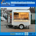 Durable new type CE ISO9001 approve fast food cart mobile kitchen trailer for sale