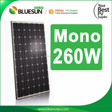 156*156 cell 260 watt mono solar panel cheap price for grid tie and off grid solar power system