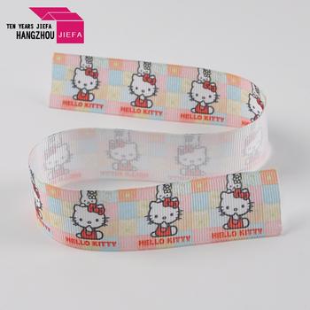Wholesale narrow custom printed cartoon polyester nylon webbing ribbon