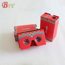 China manufacturer customized google cardboard 2.0 3d vr glasses
