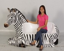 Customized single or multi person sitting zebra chair