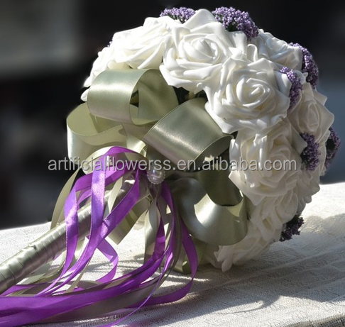 2016 hot sale ivory foam flowers bouquet