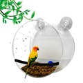 Round and shaped cage housing,Window Bird Feeder, Sliding Feed Tray, Crystal Clear