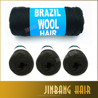 3 New Black Brazilian Wool Hair For African Hair Braiding,Sengalese Twisting