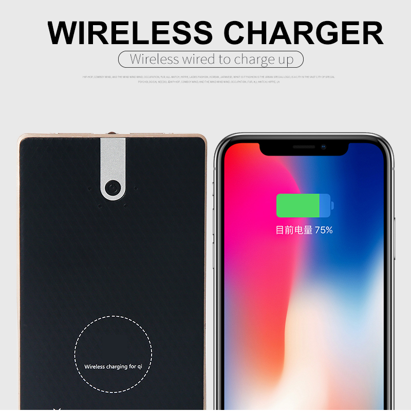 Hot Selling Battery Bank Charger 8000Mah and Wireless Charger External Battery Pack 2 in 1 With Dual Fast Charging Port