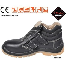 Fashion sporty leather safety shoes