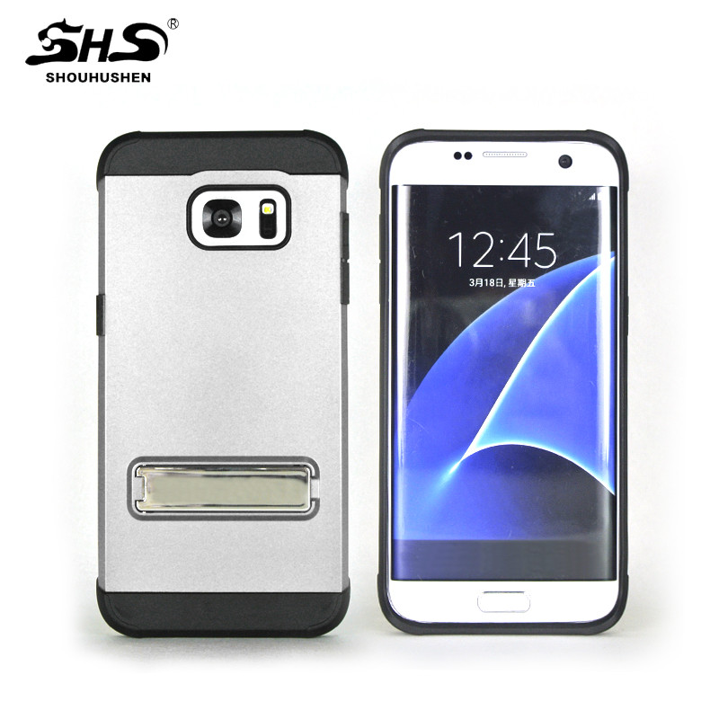 SHS Armor Electroplating Kickstand Hybrid Phone Case for iphone 7