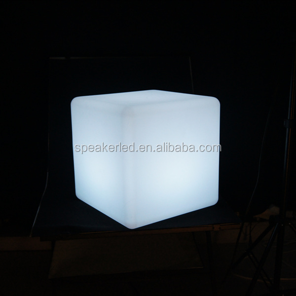 2015 high quality RGB led cube/glow led cube/Outdoor Decoration glow led cube chair