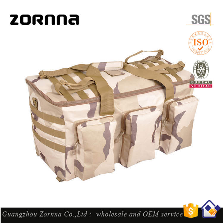 Durable wholesale unisex gender sport bag leather military canvas duffle bag
