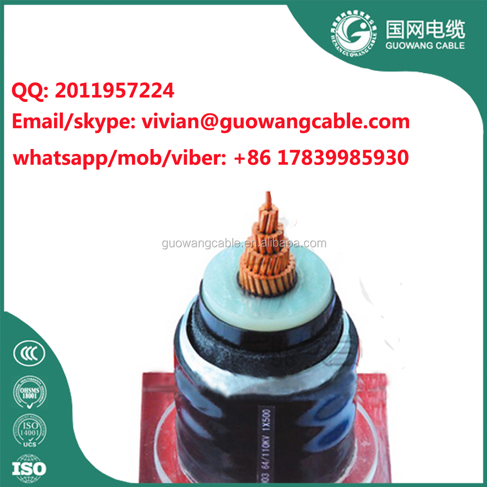 19/33 kV MV Cu/XLPE/CWS/PVC/SWA/PVC Armoured Cable direct buried underground for irradiation 400 500 630 sq mm
