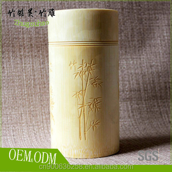 Traditional bamboo tea tins exquisite tea package