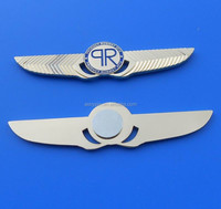 die casting gold wing genesis wing pilog badge with magnet on back