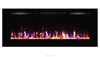 "new 72"" big insert electric fireplace with 3 color changing led"