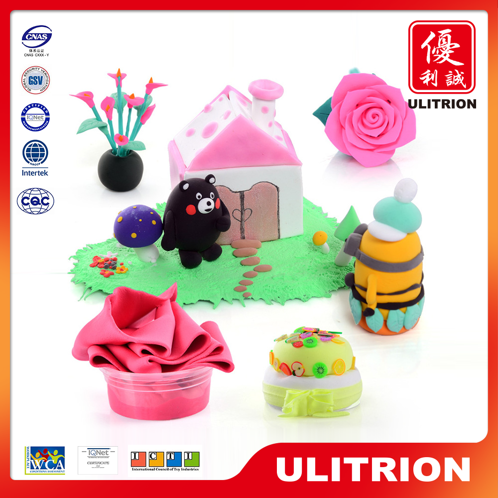 Own custom design toy clay character modeling foam clay flowers