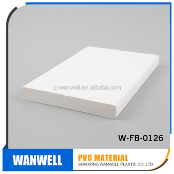 rigid pvc foam material for building trim plank 1X6