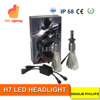 car headlight manufacturer H7 6500K super bright led auto headlight for cars with wholesale