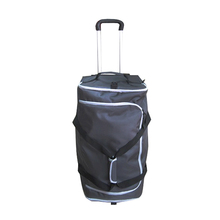 Wholesale Black Outdoor 1680D Expandable Duffel Bag With Wheel