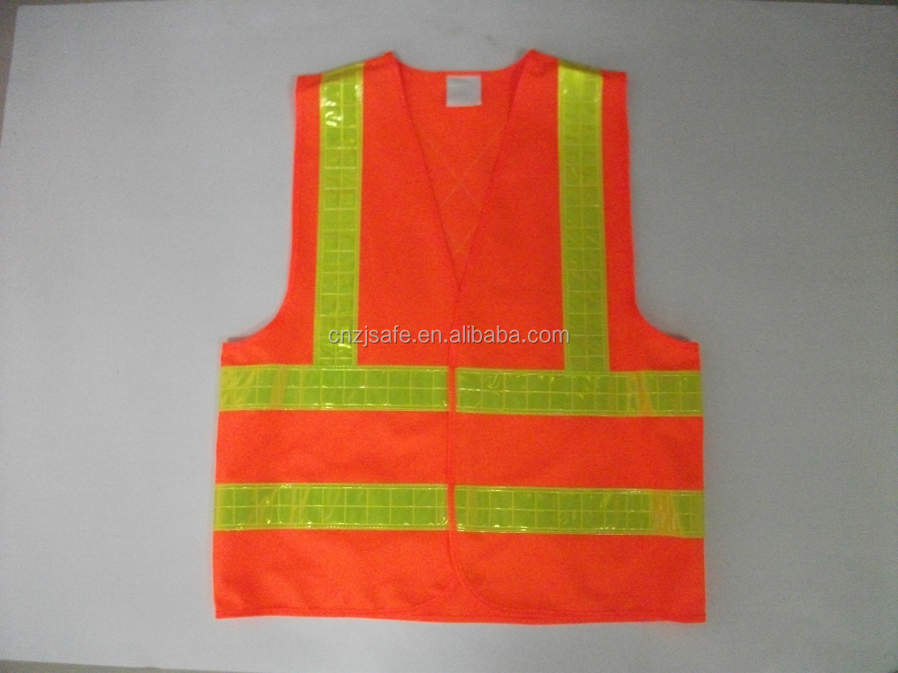 Factory Direct Sale Fluorescent Yellow/Orange 100% Polyester Knitted/Mesh Reflective Safety Vest Security Warning Clothing