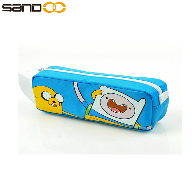 Adventure Time Jake & Finn Multi Pouch Pencil Bag blue pen bag, packing bag for pen