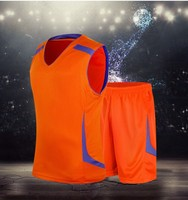 2015 new design Reversible mesh blank basketball uniforms double sides basketball uniform