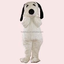 Lovely white dog mascot costume/snoopy mascot costume/carnival costume adult for sale