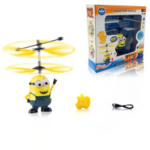 Infrared RC Flying Ball Remote Control Helicopter Cartoon Flying Toy with Led light