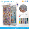 Bling Glitter Star Soft Epoxy TPU Back Cover For iPhone 6 Case 360 With Mouse Ears