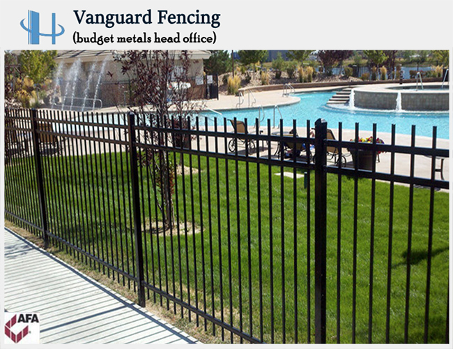 Powder Coated Steel Picket Style,3 Rail Fence
