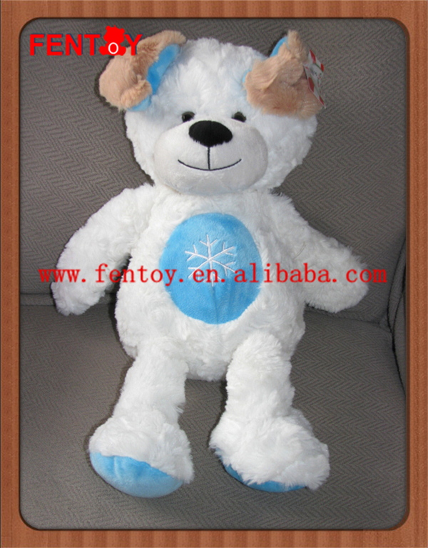 Sweet Sprouts White Stuffed Plush Dog with Xmas Holiday Winter NEW