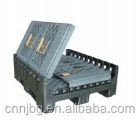 made in china HDPE Plastic Pallet Box, large plastic container used with forklift